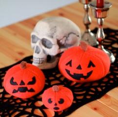 Plush Pumpkin Trio