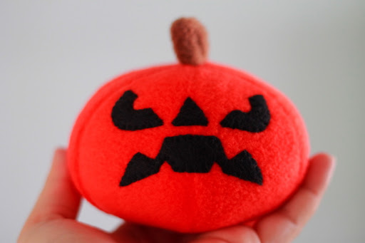 Plush Pumpkin Trio